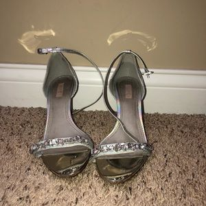 Holographic/silver heels